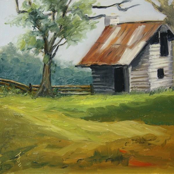 """Rustic Setting"" original fine art by Jane Frederick"