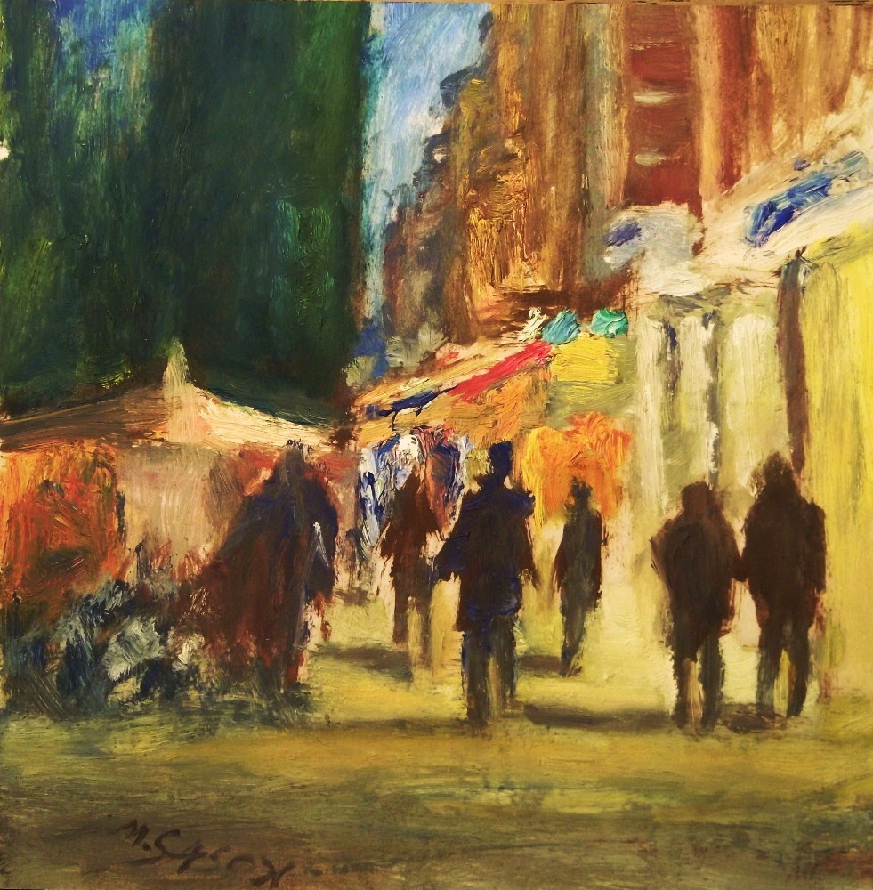 """Evening stroll"" original fine art by Michael Sason"