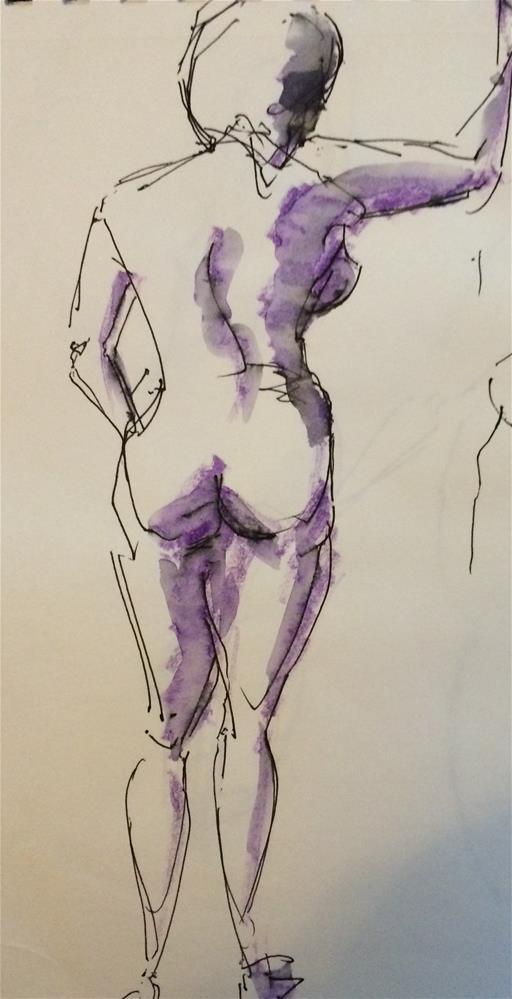 """""""Nude 2"""" original fine art by Naomi Bautista"""