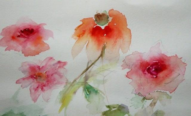 """Study-1"" original fine art by Mitsuru Cope"