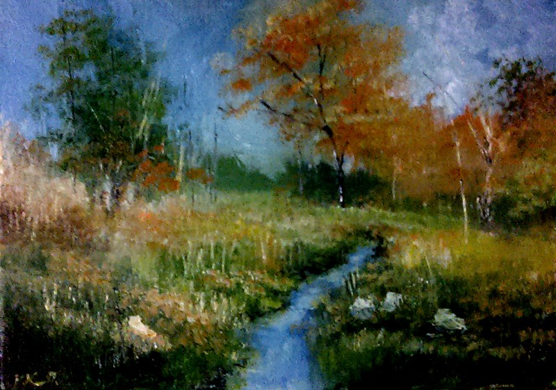 """The Brook"" original fine art by Bob Kimball"