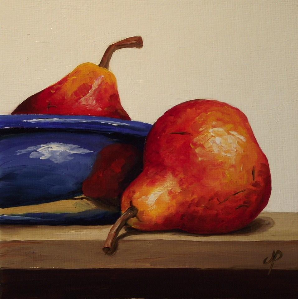 """Pear bowl"" original fine art by Jane Palmer"