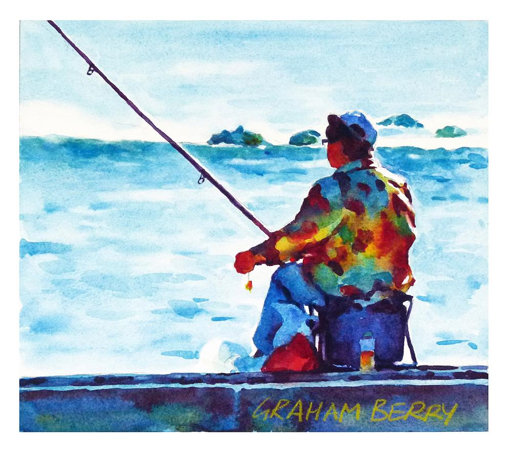 """Catching supper."" original fine art by Graham Berry"