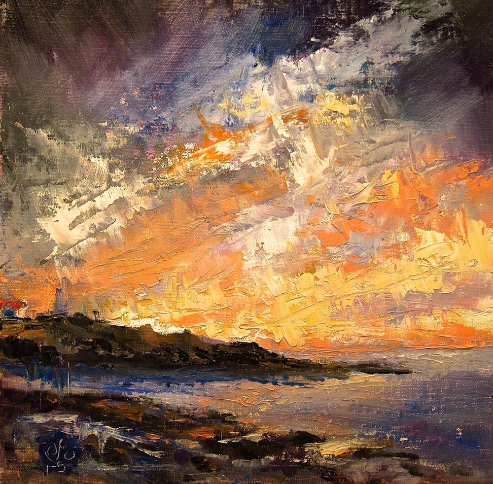 """Lighting the Lighthouse"" original fine art by Aurelio Saiz"
