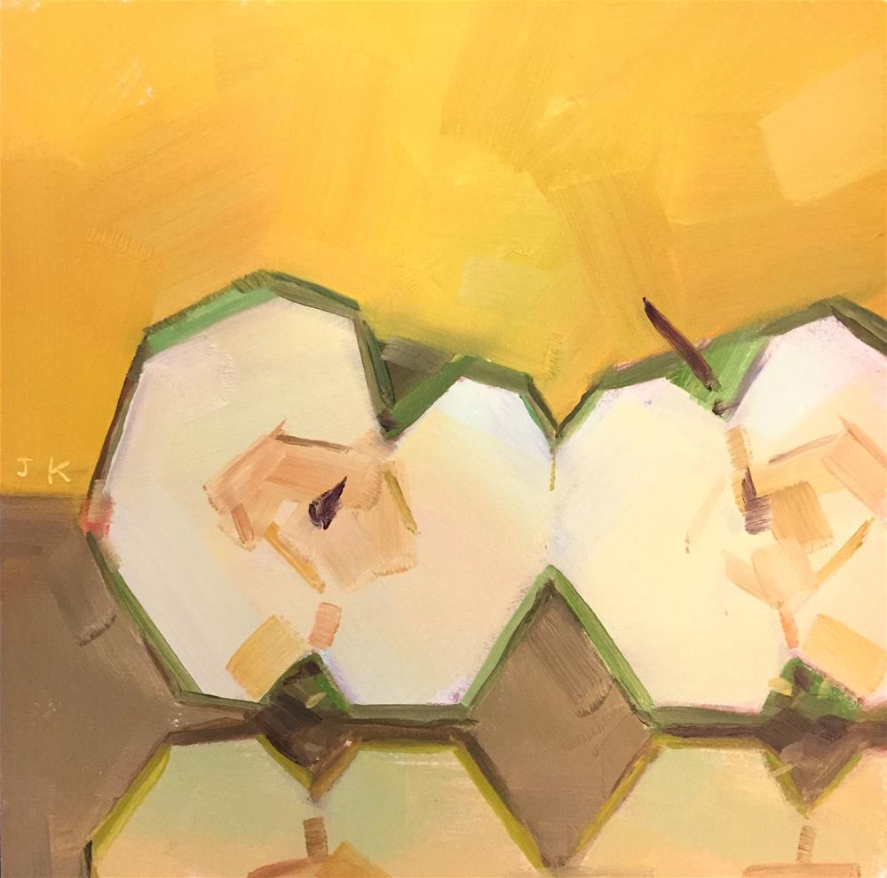 """Leanning"" original fine art by Jiyoung Kim"