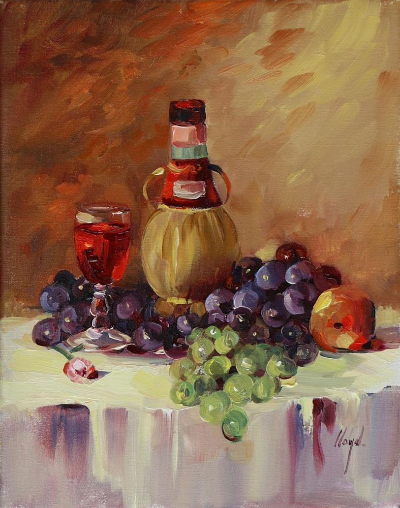 """""""Chianti and Friends"""" original fine art by Diane Lloyd"""