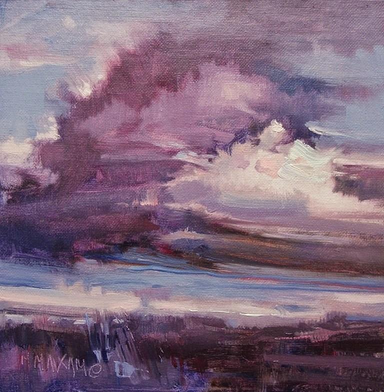 """A Violet Sky"" original fine art by Mary Maxam"