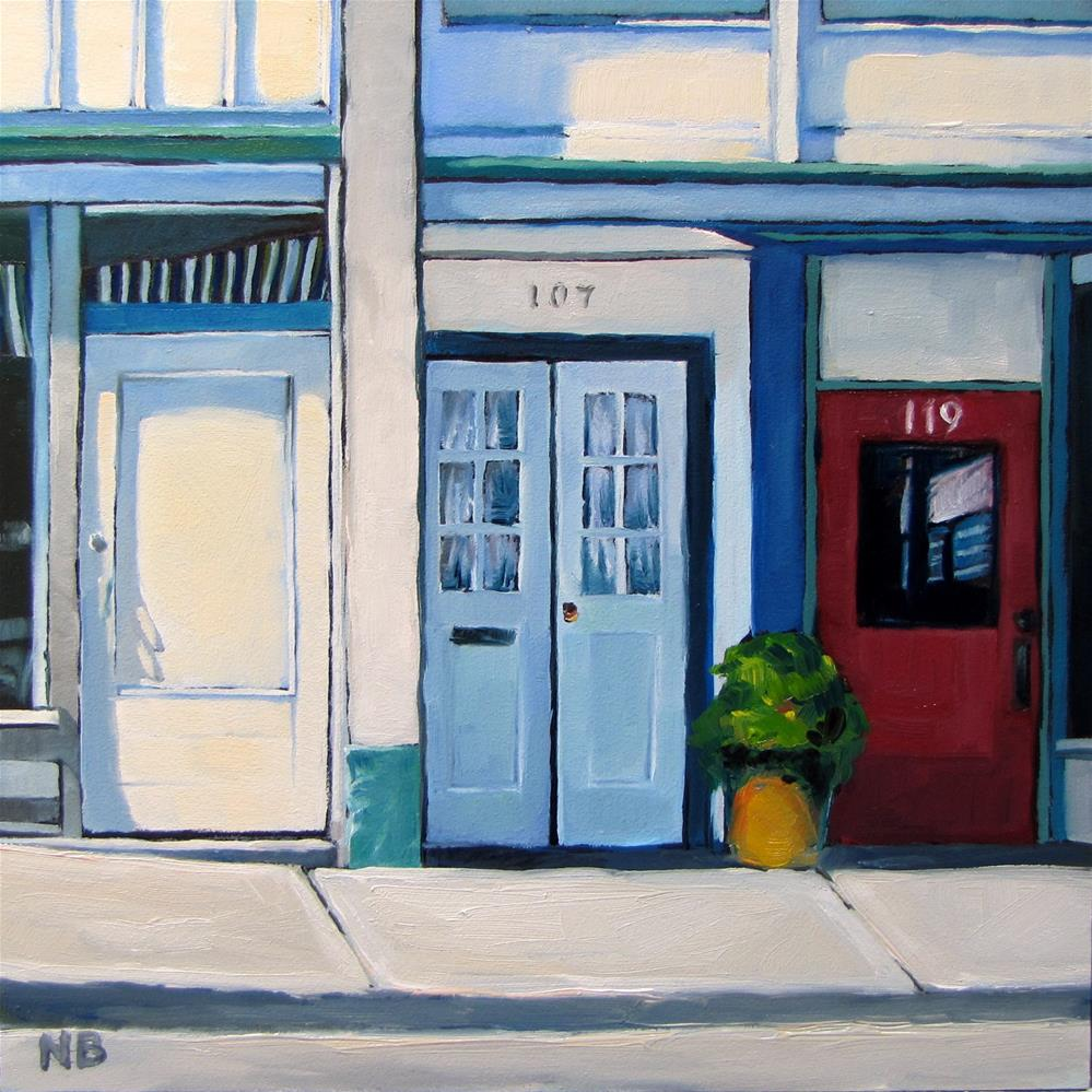 """Doors"" original fine art by Nora Bergman"