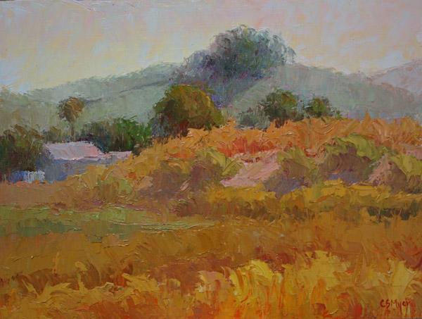 """Country Morning"" original fine art by Carol Myer"