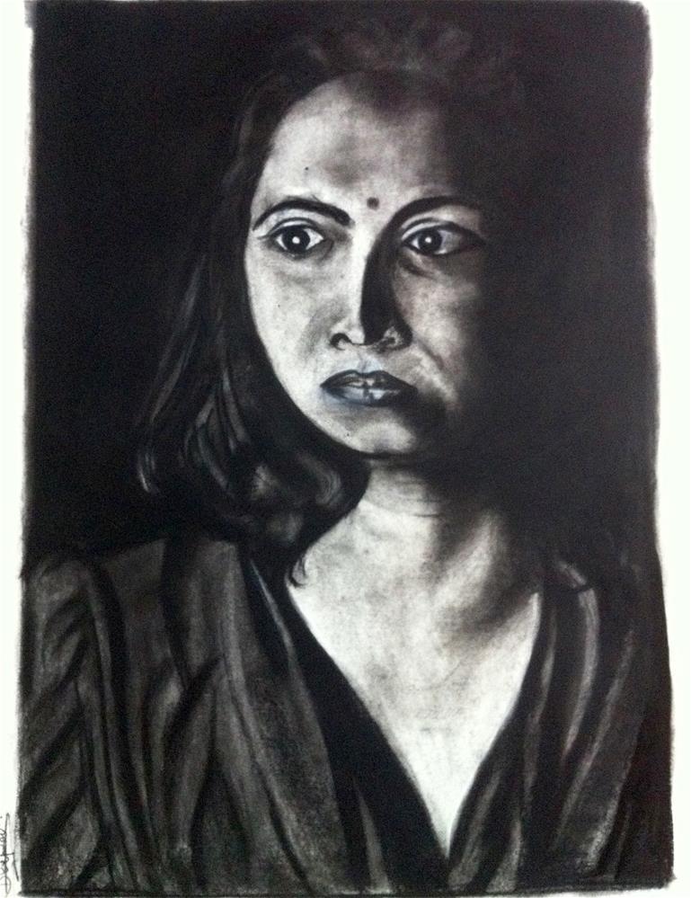 """Portrait"" original fine art by Dipali Rabadiya"