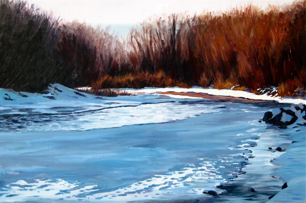 """Evening of the Shortest Day"" original fine art by Zack Thurmond"