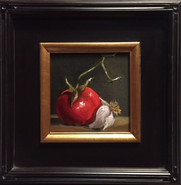 """Tomato and Garlic"" original fine art by Cheryl J Smith"
