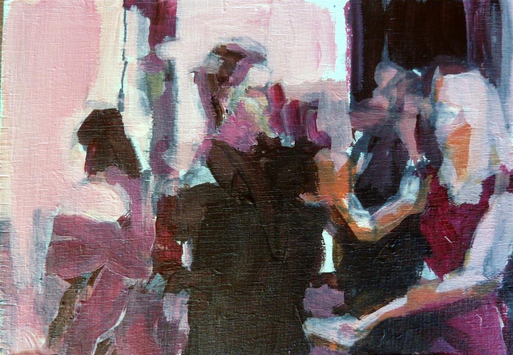 """""""auf einem Fest / on a party"""" original fine art by Mila Plaickner"""