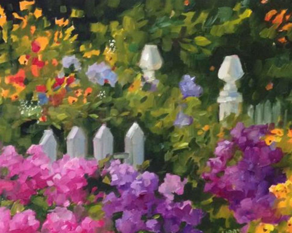 """Garden in July"" original fine art by Libby Anderson"