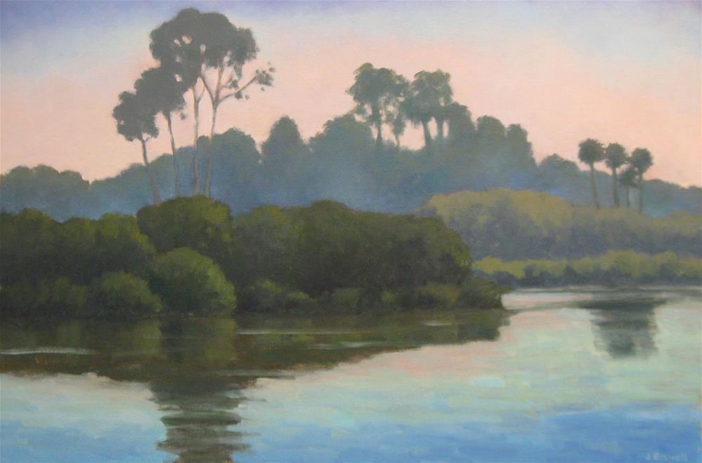 """Late Afternoon at the Bird Refuge"" original fine art by Jennifer Boswell"