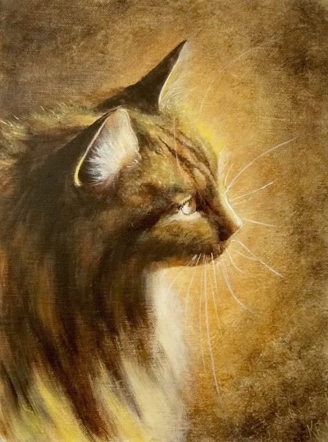 """""""Golden Light No 1"""" original fine art by Karen Robinson"""