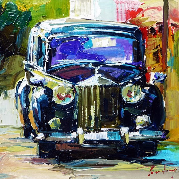 """old beautiful Rolls-Royce"" original fine art by Jurij Frey"