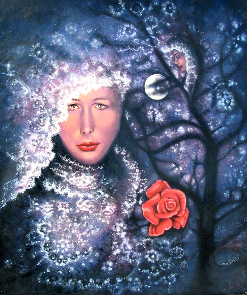 """Cosmic Bride"" original fine art by Karen Roncari"
