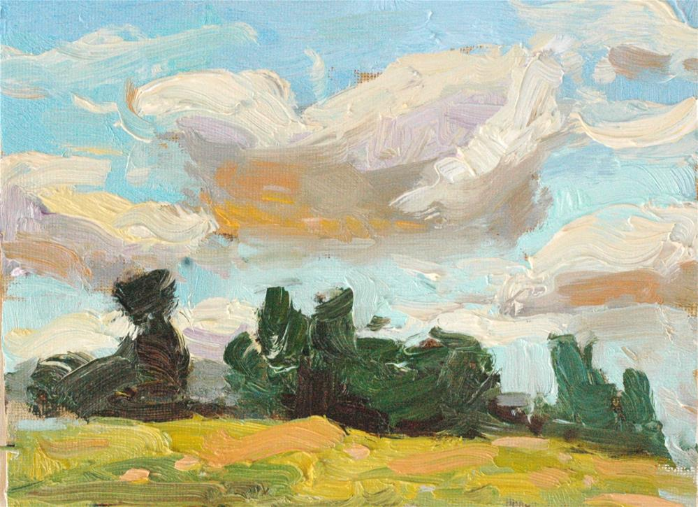 """Summer Clouds"" original fine art by Michael Clark"