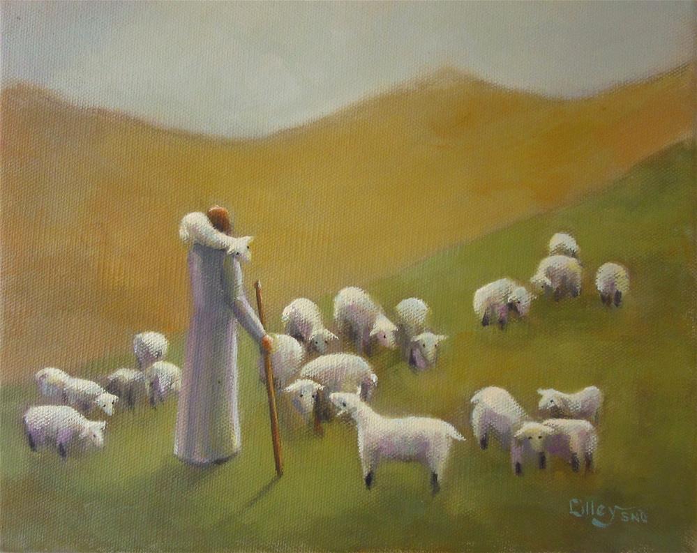"""Good Shepherd"" original fine art by Maresa Lilley"