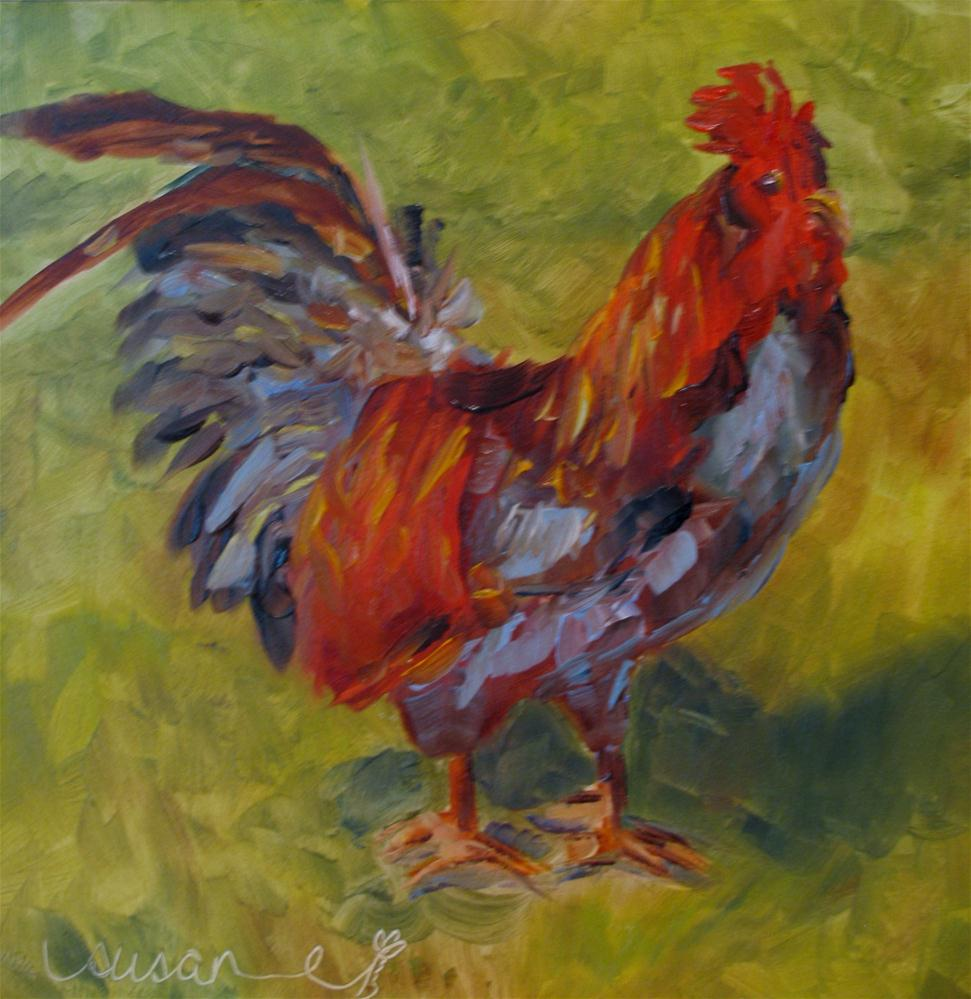 """King of the Barnyard"" original fine art by Susan Elizabeth Jones"