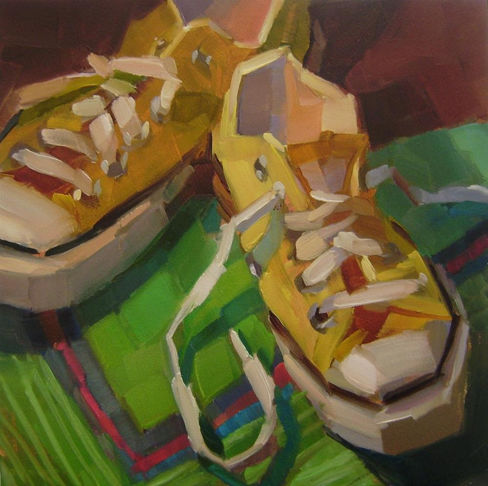"""Lemon Low-Tops"" original fine art by Holly Storlie"