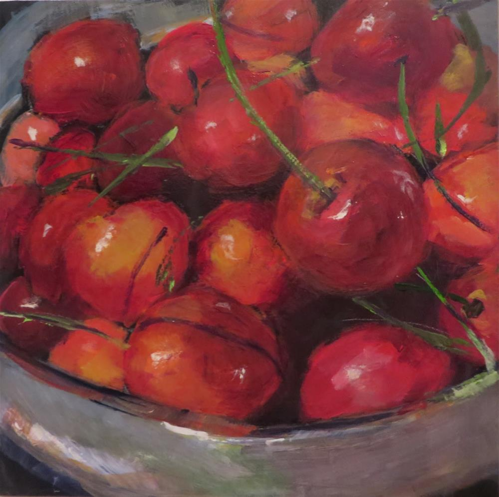 """668  Lebanese Cherries"" original fine art by Diane Campion"