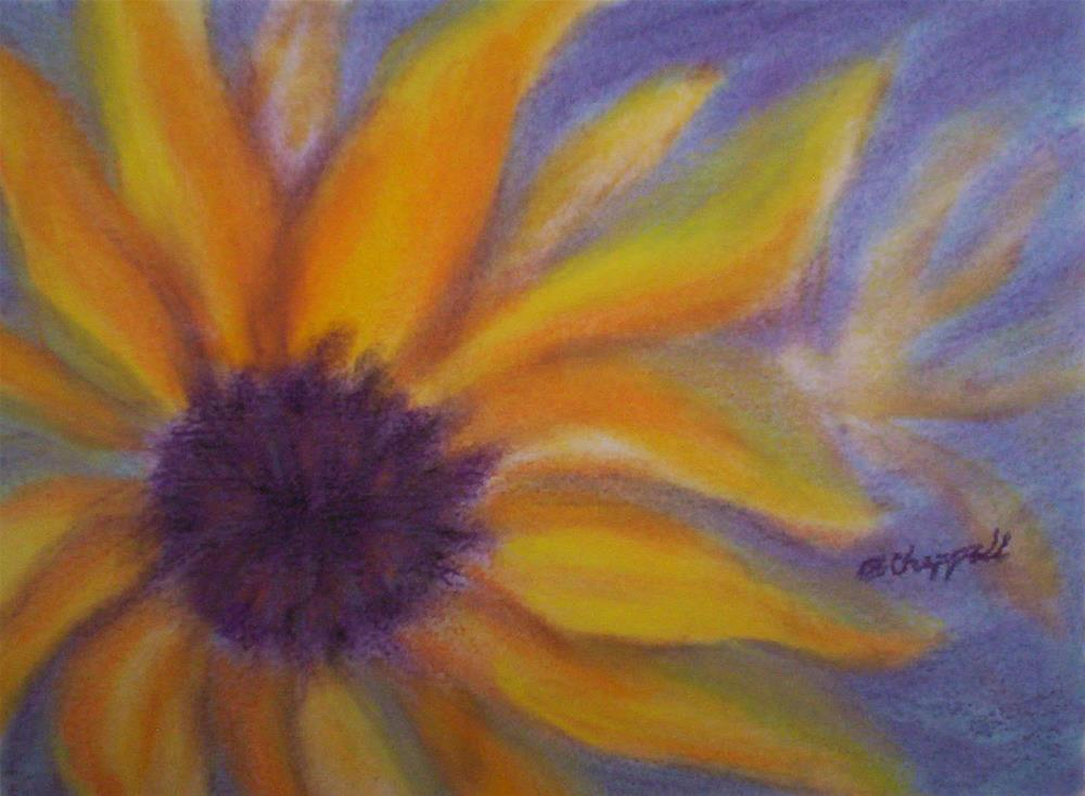 """Soft Sunflower"" original fine art by Becky Chappell"