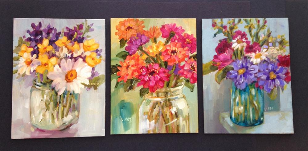"""Three for Three"" original fine art by Libby Anderson"