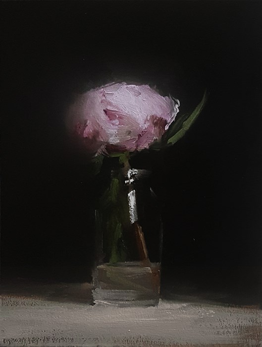 """Peony Bottle"" original fine art by Neil Carroll"