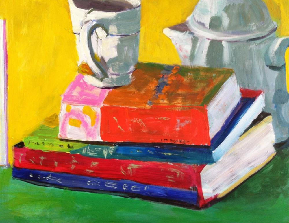 """Still Life with Hot Tea"" original fine art by Christine Parker"