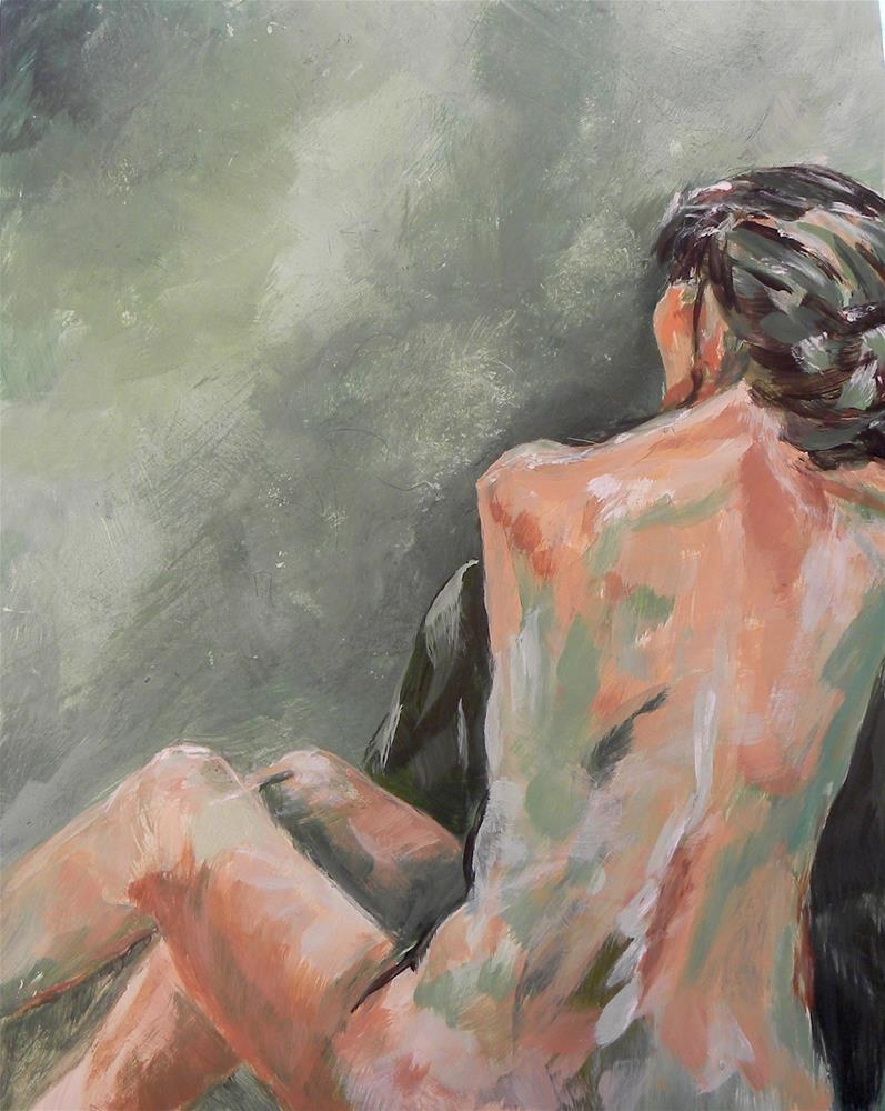 """Nude in Green"" original fine art by cheryl buhrman"