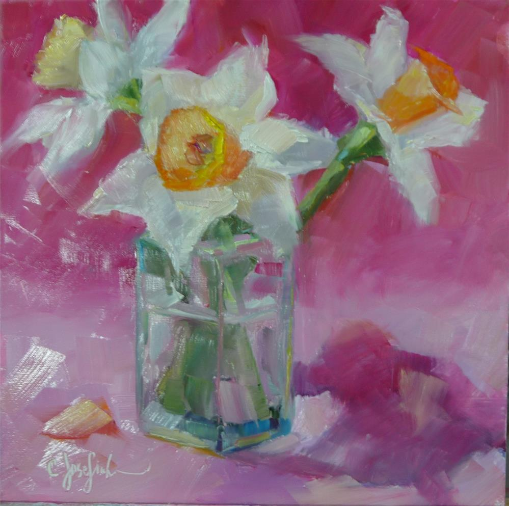 """Happy Daffodils"" original fine art by Carol Josefiak"