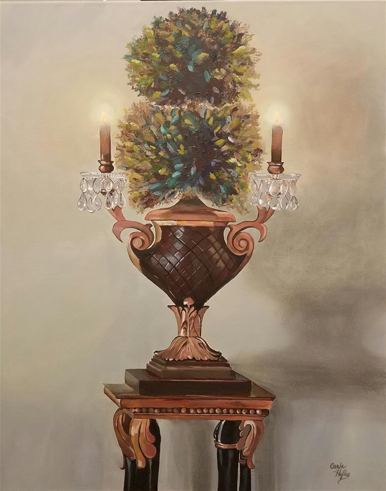 """Topiary"" original fine art by Carla Hefley"