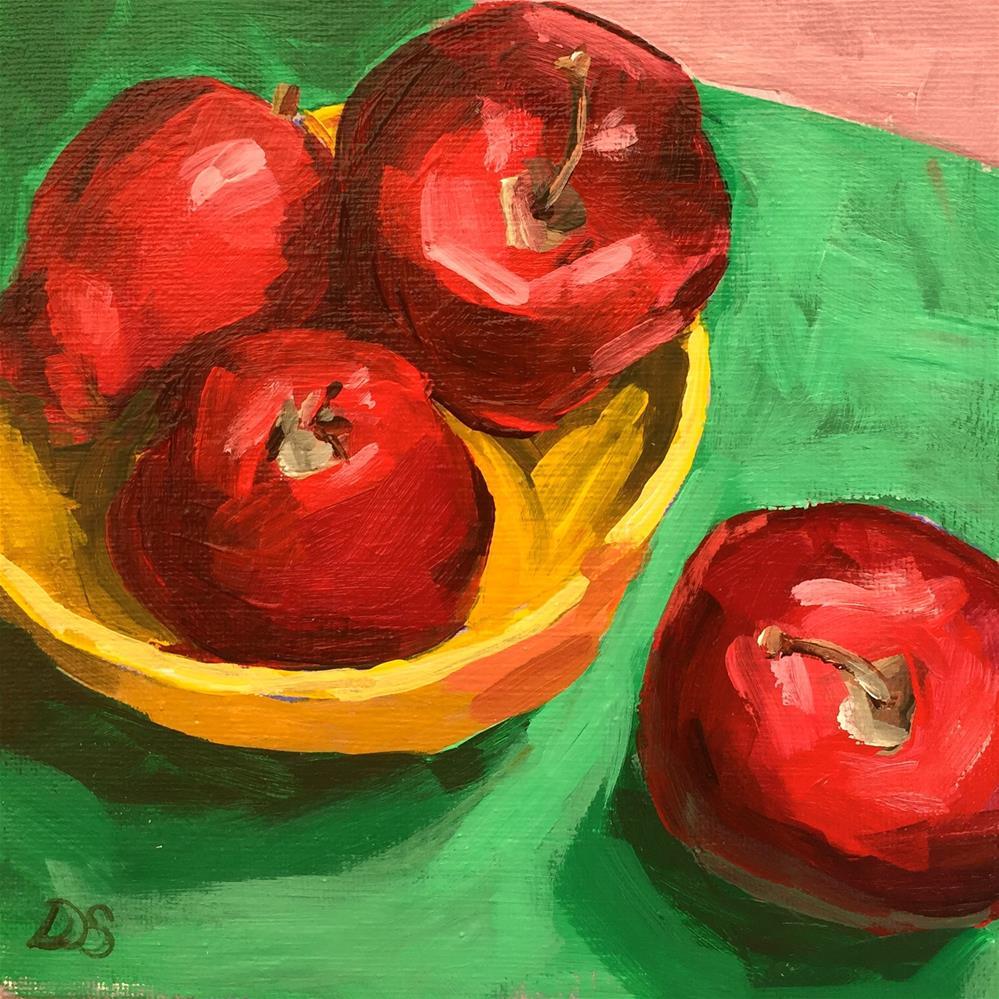 """""""Delicious"""" original fine art by Diana Stewart"""