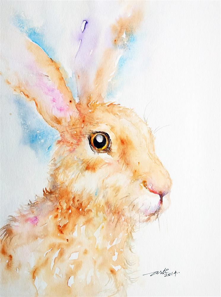 """Sienna Hare"" original fine art by Arti Chauhan"