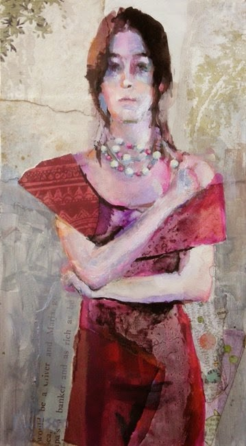 """Red Dress"" original fine art by Katie Wilson"