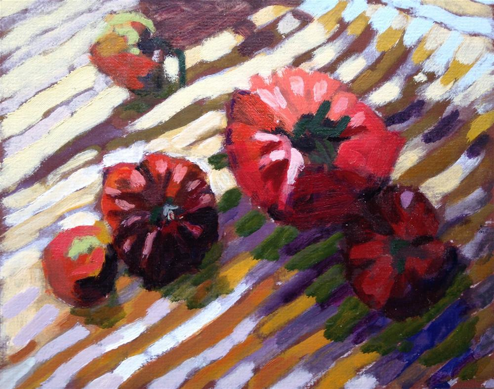 """Heirlooms and Mustard"" original fine art by Pamela Hoffmeister"
