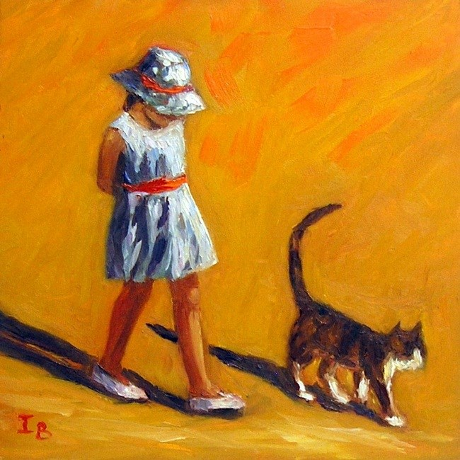 """Summer Walk"" original fine art by Irina Beskina"