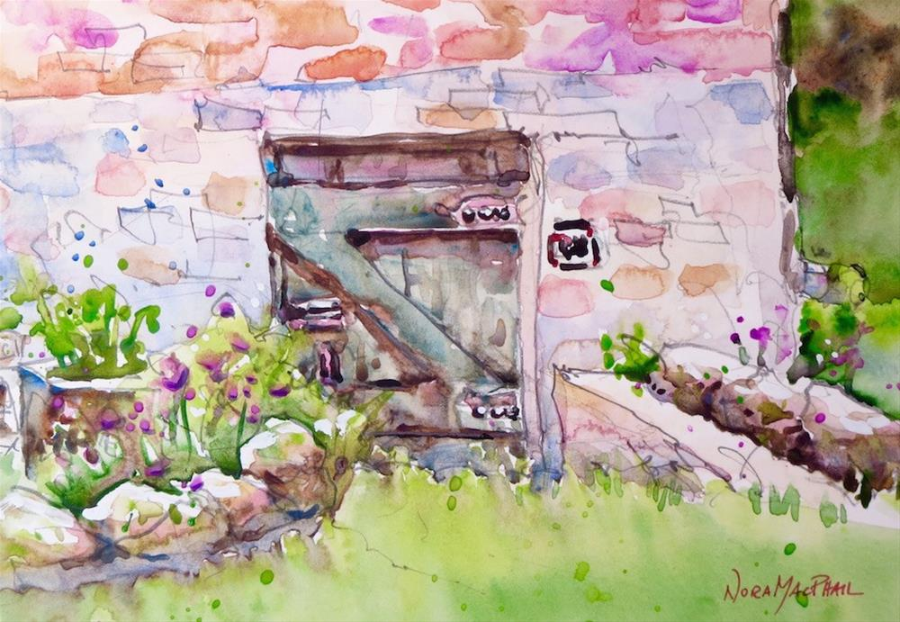 """hidden door"" original fine art by Nora MacPhail"