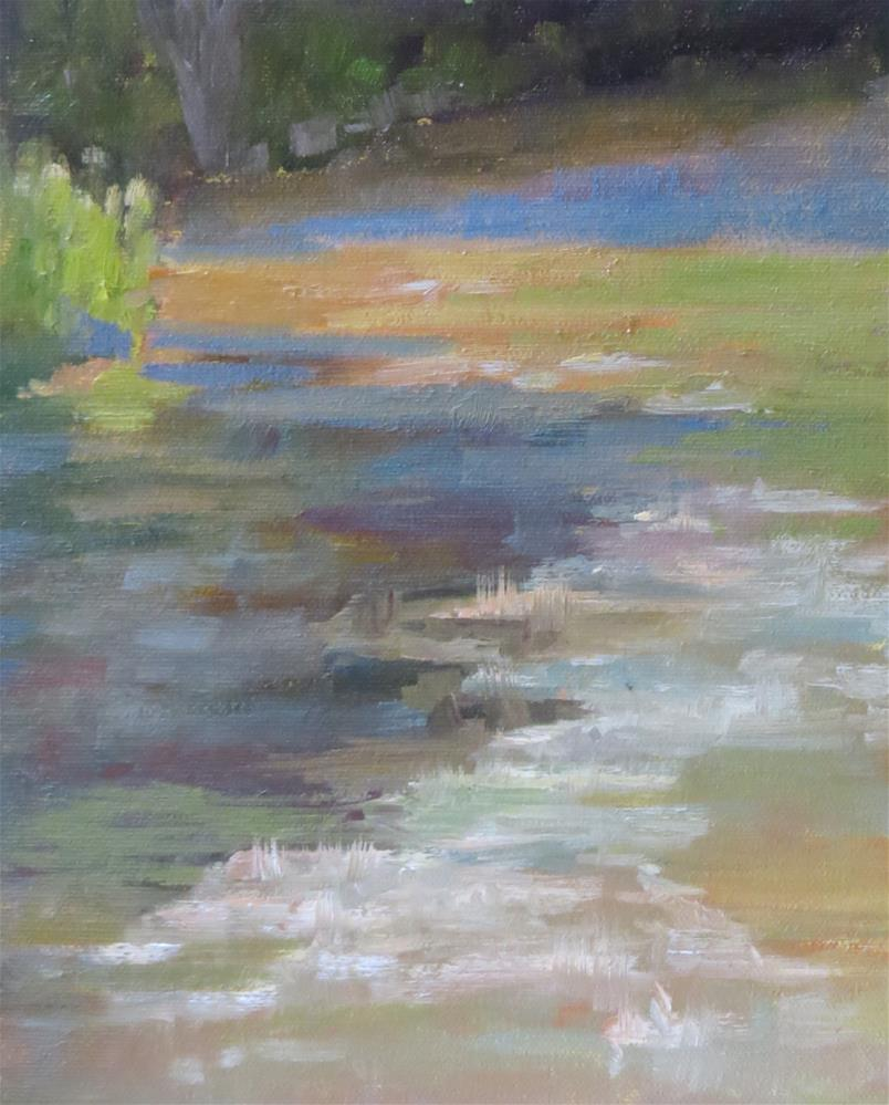 """Looking Up The River"" original fine art by Pam Holnback"
