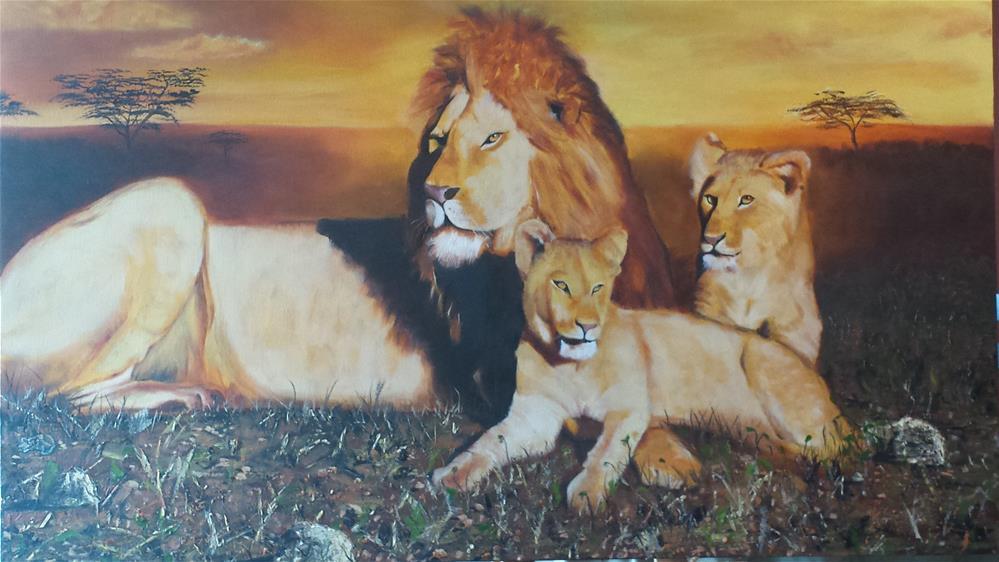 """Serengeti Sunset"" original fine art by Kenny Arnold"