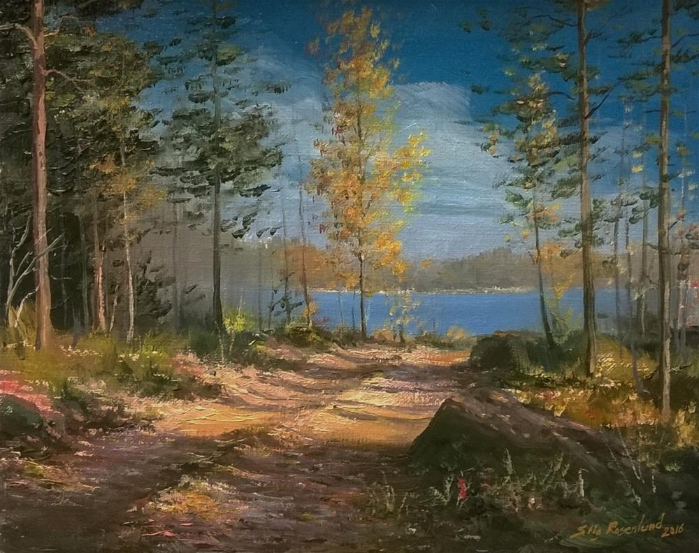 """To the shore"" original fine art by Stig Rosenlund"