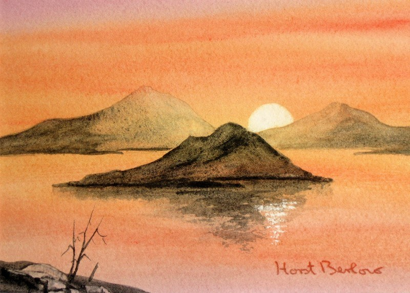 """Sunset"" original fine art by Horst Berlow"