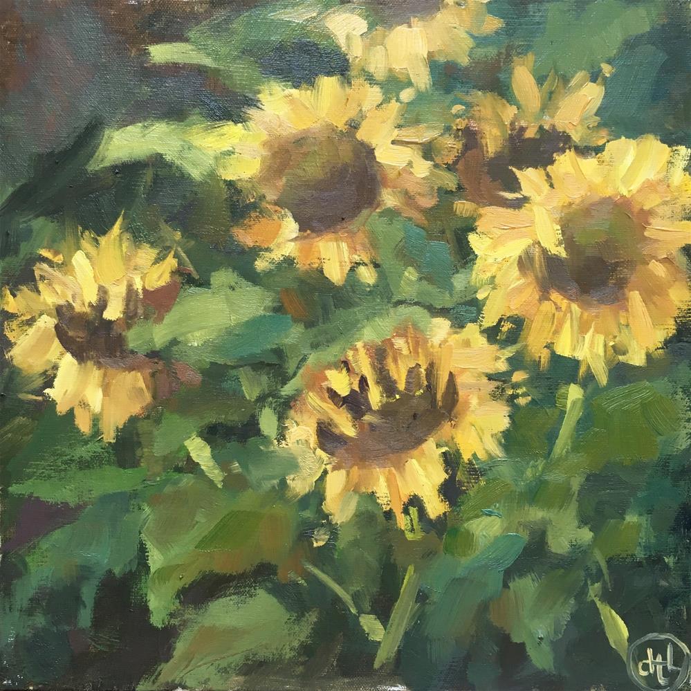 """""""farm flowers"""" original fine art by Dottie  T  Leatherwood"""