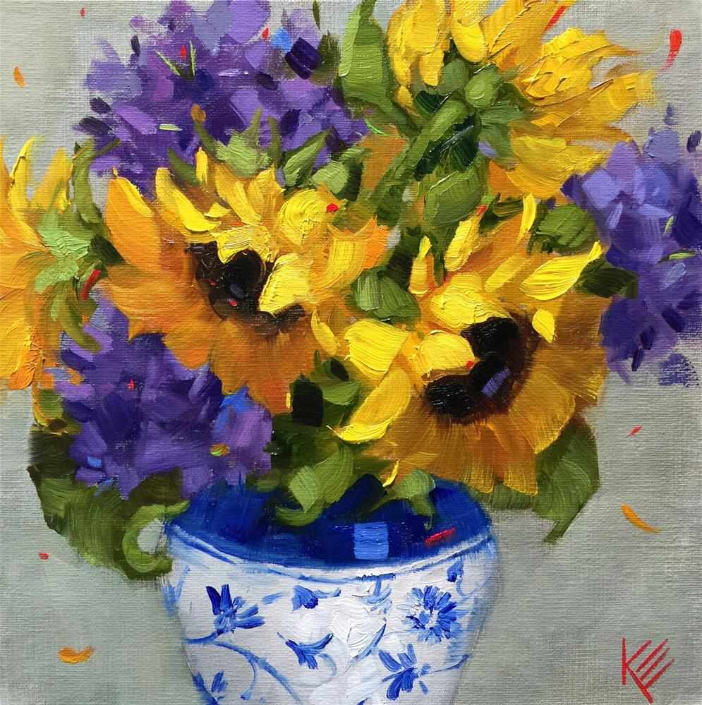 """Sunshine Splash"" original fine art by Krista Eaton"