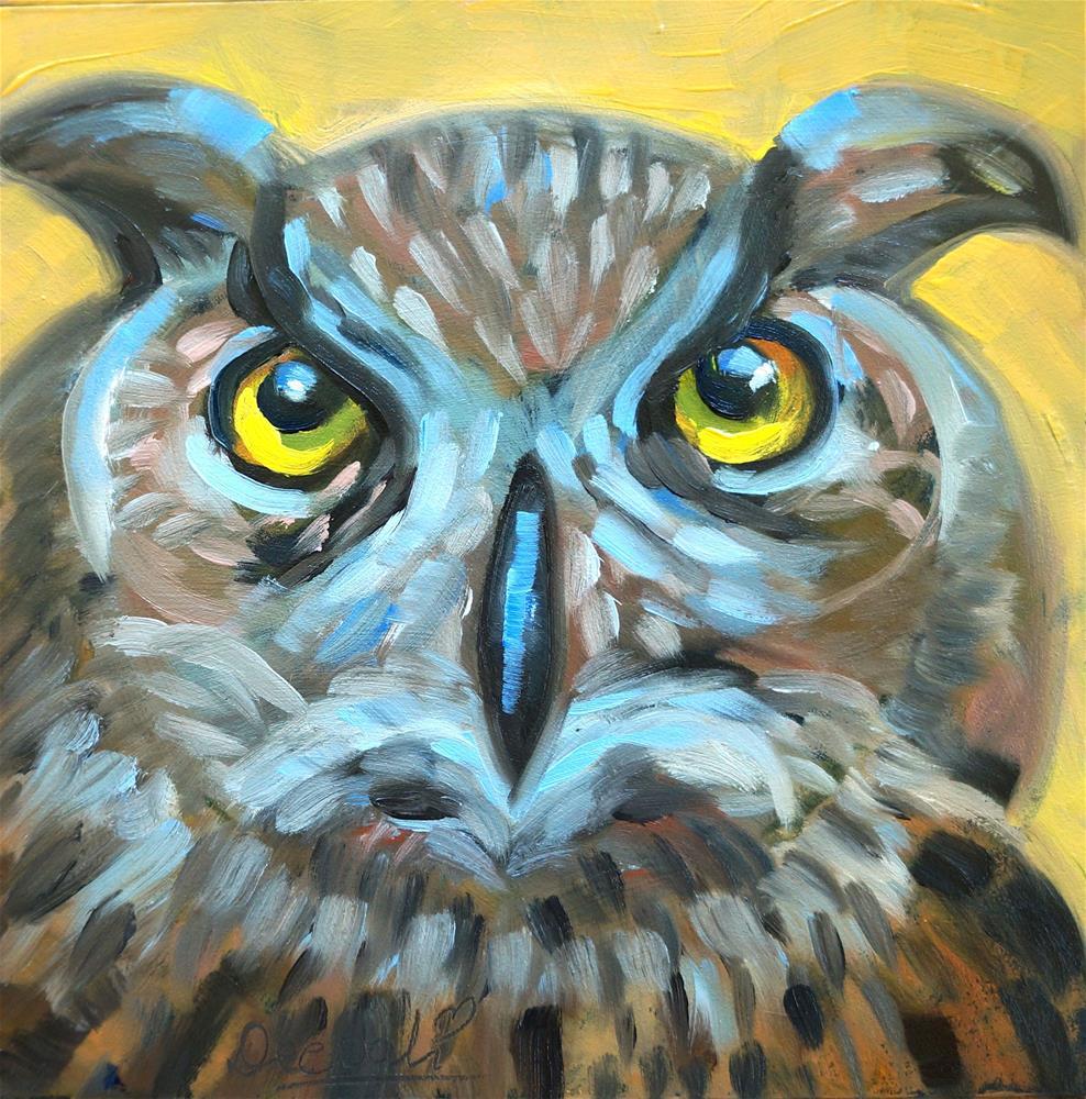 """Owl"" original fine art by Dipali Rabadiya"