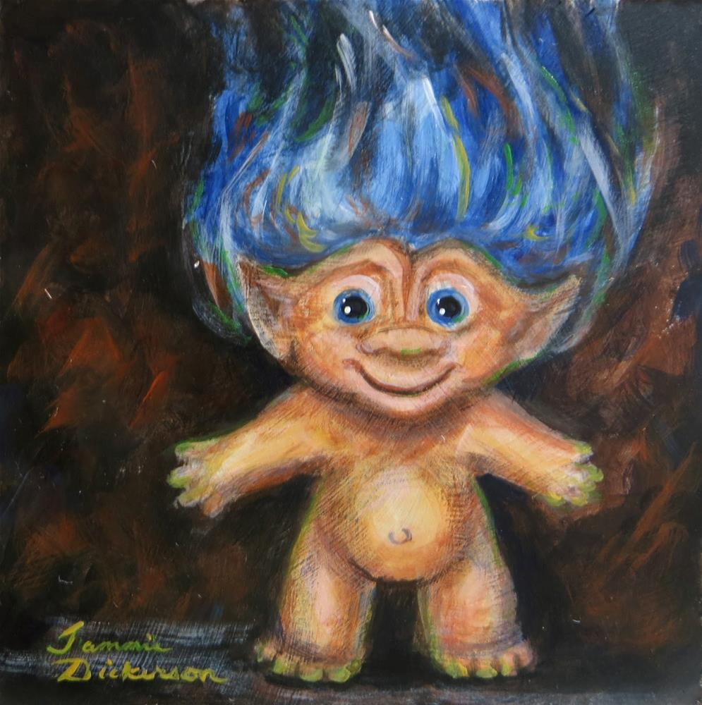"""Blue Troll"" original fine art by Tammie Dickerson"