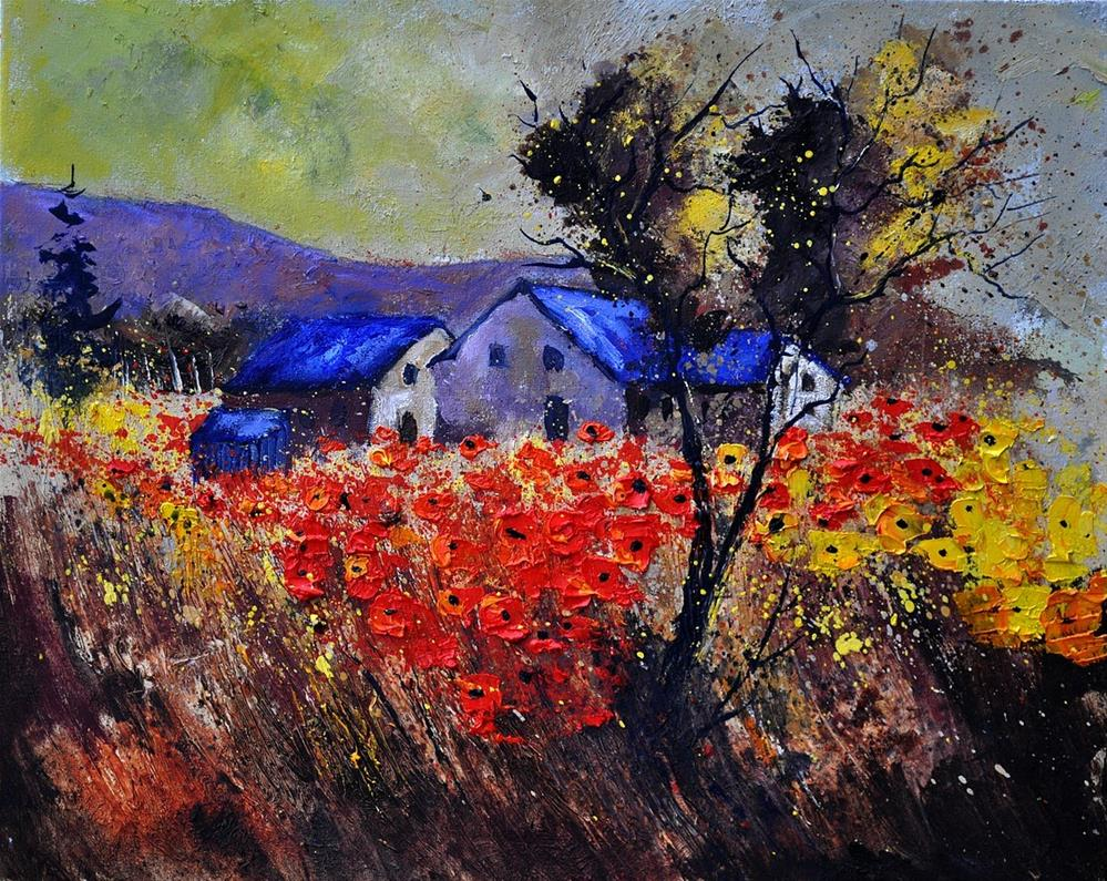 """Poppies 454110"" original fine art by Pol Ledent"