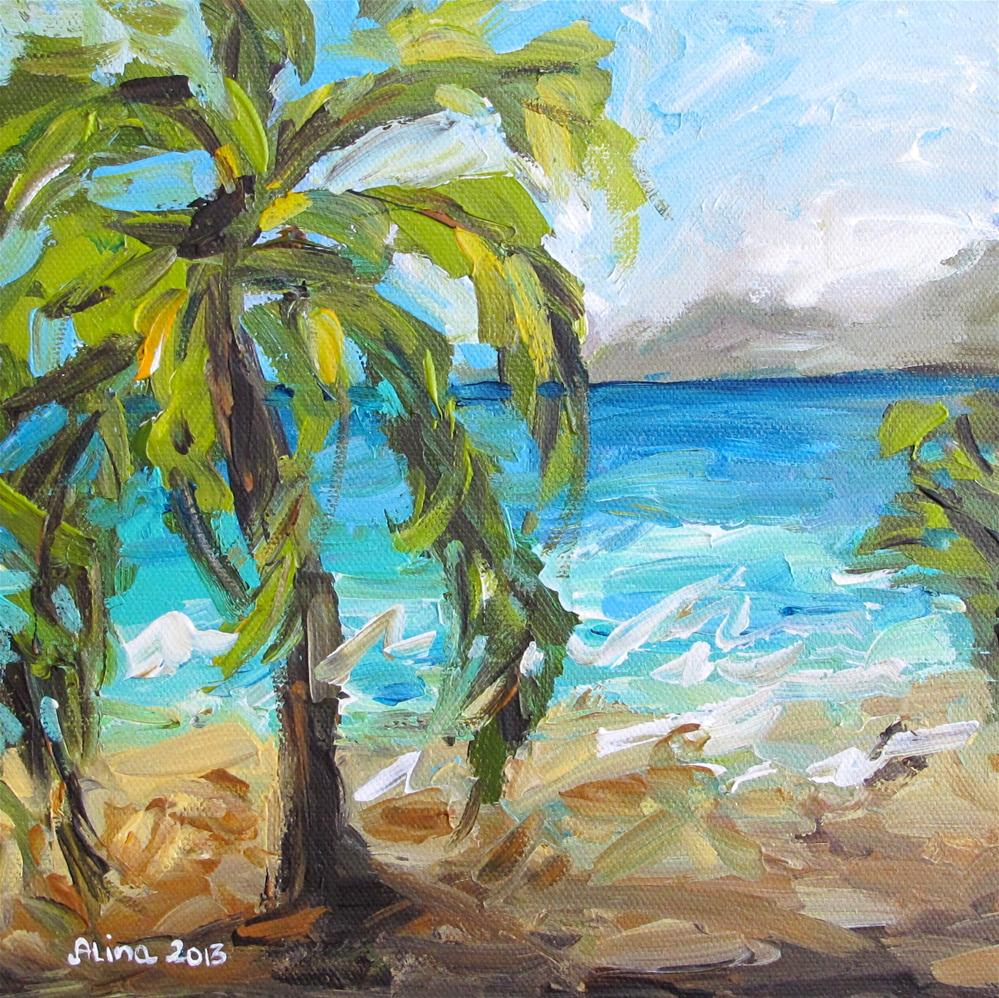"""Beach Scene 2"" original fine art by Alina Vidulescu"